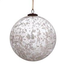 """8"""" Classic Silver Ball Ornament"""