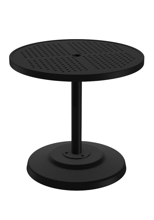 "Boulevard 30"" Round KD Pedestal Dining Umbrella Table"