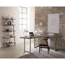 Waverly - L Desk Base - Sandblasted Gray Finish