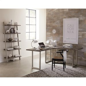 RiversideWaverly - L Desk Top - Sandblasted Gray Finish