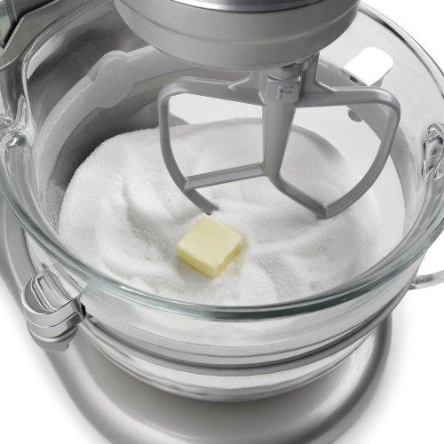 Professional 6500 Design Series 6 Quart Bowl-Lift Stand Mixer - Sugar Pearl Silver