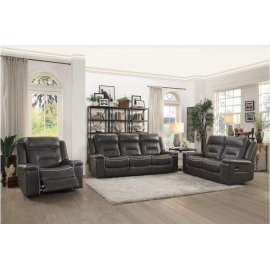 Double Lay Flat Reclining Love Seat