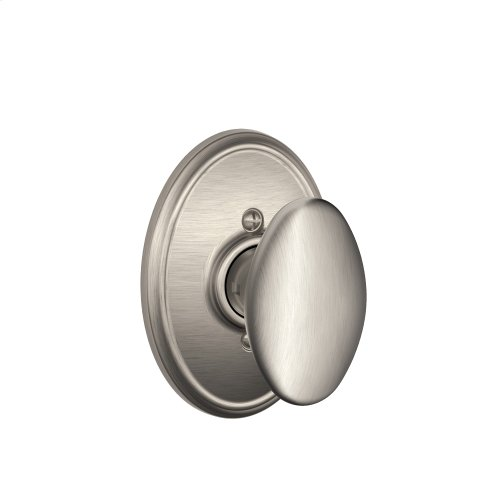 Siena Knob with Wakefield trim Non-turning Lock - Satin Nickel