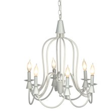 Large White Bell Chandelier. 25W Max
