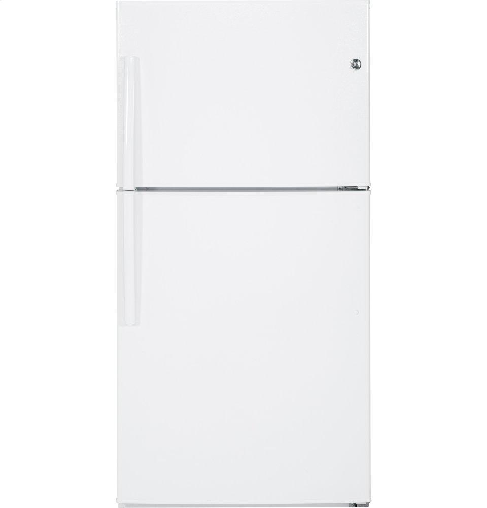 GE(R) ENERGY STAR(R) 21.1 Cu. Ft. Top-Freezer Refrigerator  WHITE