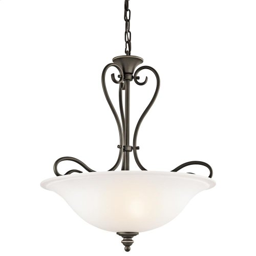 Tanglewood Collection Tanglewood 3 Light Halogen Inverted Pendant OZ