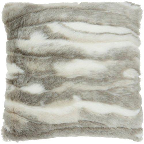 """Fur Vv017 Grey 20"""" X 20"""" Throw Pillows"""