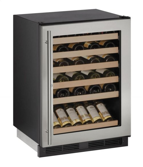 "1000 Series 24"" Wine Captain® Model With Stainless Frame (lock) Finish and Field Reversible Door Swing"