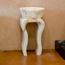 White Onyx Hairpin Pedestal