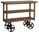 Bengal Manor Mango Wood Industrial Cart Product Image