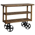 Bengal Manor Mango Wood Industrial Cart Product Image
