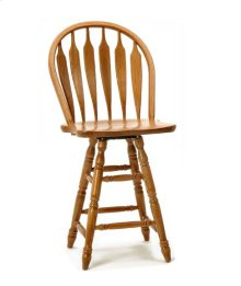 Classic Oak Wide Arrow Counter Stool
