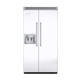 "White 42"" Quiet Cool™ Side-by-Side with Dispenser - VISB Tru-Flush™ (42"" wide)"