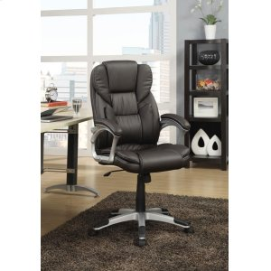 CoasterTransitional Dark Brown Office Chair