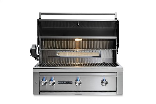 """36"""" Sedona by Lynx Built In Grill with 2 Stainless Steel Burners and ProSear Burner and Rotisserie, LP"""