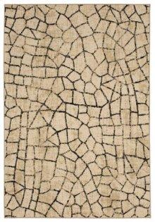 Kismet Fragment Ivory Rectangle 3ft 6in X 5ft 6in