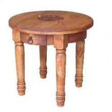 Round End Table W/star