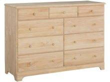 Unfinished Jamestown 9 Drawer Dresser