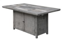 Rect Gathering Table W/fire Pit-brown (1/ctn)
