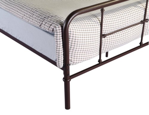Emerald Home Fairfield Metal Bed Woodland Brown B202-12hbfbrdkbrn