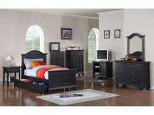 BP888NSB Brook Black Youth Nightstand