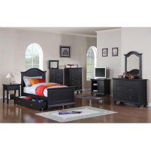 BP888DRB Brook Black Youth Dresser