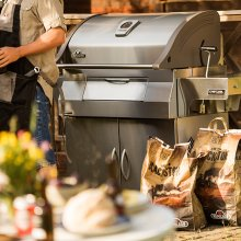 Charcoal Professional Grill in Stainless Steel