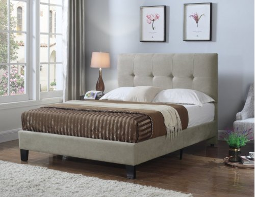 Emerald Home Harper Upholstered Bed Kit King Taupe B129-12hbfbr-05