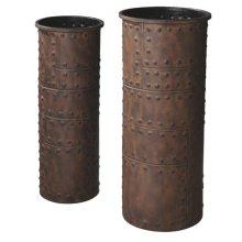 Rusted Studded Vase set/2.