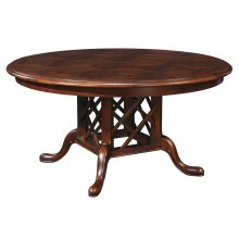 54 Diameter Parquet Top Geneva Round Dining Table