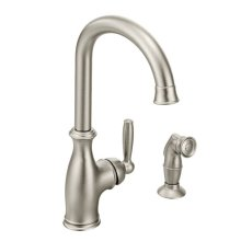 Brantford spot resist stainless one-handle kitchen faucet