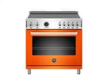 36 inch Induction Range, 5 Heating Zones, Electric Self-Clean Oven Orange