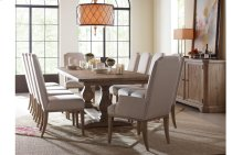 Monteverdi by Rachael Ray Trestle Table and 4 Side Chairs
