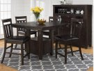Kona Grove Counter Height Table With Four Slat Back Stools Product Image