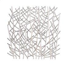 Chronograph Grey & White Rattan Wall Decor