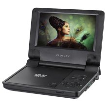"7"" Portable DVD Player Carbon Fiber Finish"