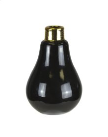Black Lightbulb Bud Vase 6""