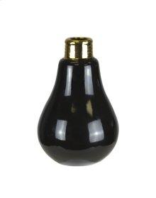 """Black Lightbulb Bud Vase 6"""""""