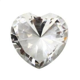 "Glass Heart Diamond, Clear, 4"""