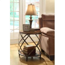 Casual Brown Accent Table