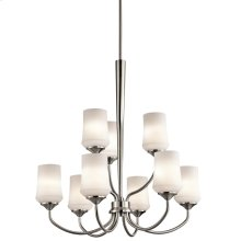 Aubrey Collection Aubrey 9 Light Chandelier - Brushed Nickel NI