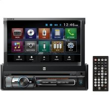 """7"""" Single-DIN In-Dash DVD Receiver with Bluetooth® & Motorized Touchscreen"""