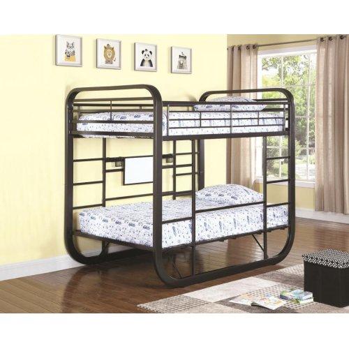 Archer Casual Chestnut Full Workstation Bunk Bed