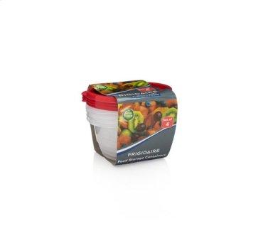 4-Pack 25.7oz Plastic Round Storage Container