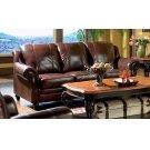 Princeton Traditional Burgundy Sofa Product Image