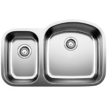 Blanco Stellar® 1.6 Reverse Bowl - Stainless Steel Refined Brushed Finish