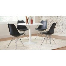 Lowry Contemporary Black Dining Chair