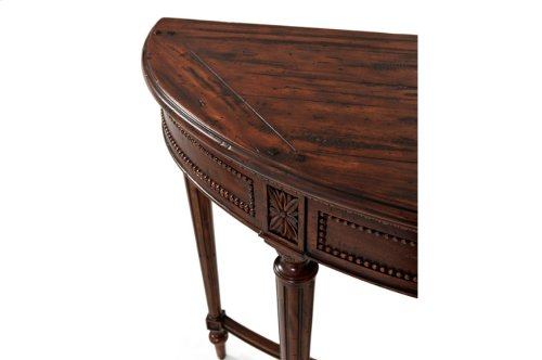 Hand Carved Rosettes Console Table