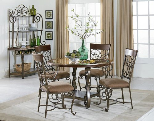 STANDARD 13421-13424 Bombay Round Dining Table With 4 Chairs