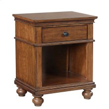 1 Drawer Nightstand (Available in Whiskey Brown or Peppercorn Grey Finish)